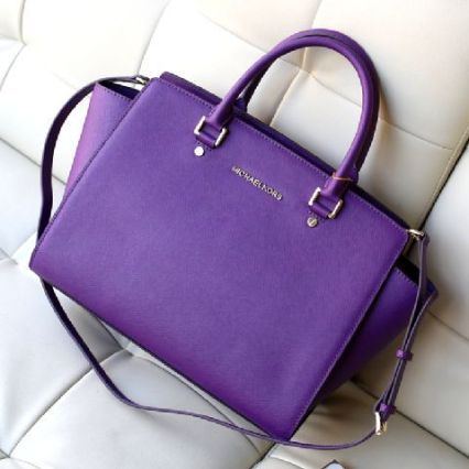Michael Kors Purple Cosmetic Bag Leather 212_LRG